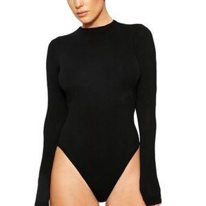 The NW Black Long Sleeve Bodysuit